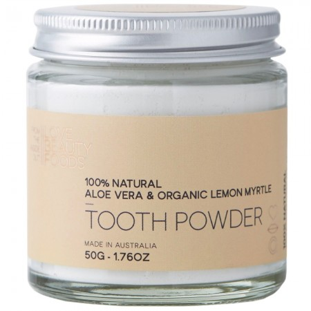 Love Beauty Foods Tooth Powder 50g - Lemon Myrtle & Aloe Vera