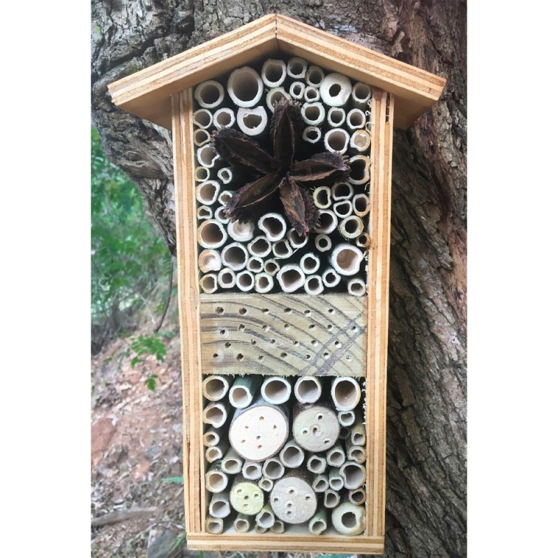 native solitary bees bee hotel large | Stay at Home Mum.com.au
