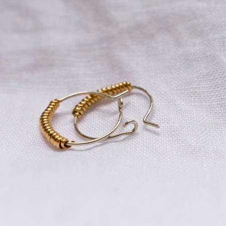 Ochre Acacia Hoop Earrings