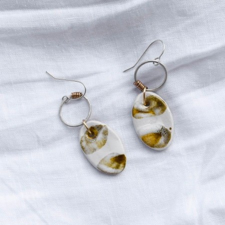 Ochre Petal Earrings