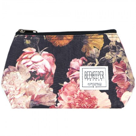 Beekeeper Parade Makeup Bag Small - Antique Floral