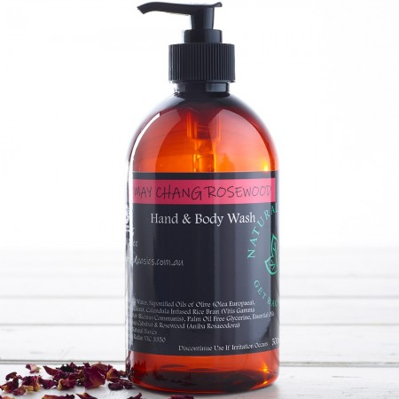 Natural Basics Hand & Body Wash 500ml - May Chang Rosewood