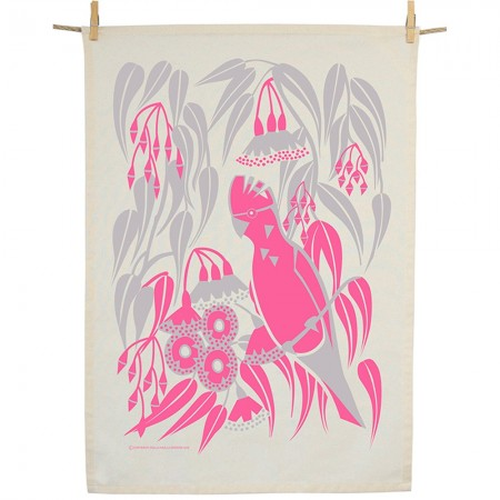 Earth Greetings Organic Cotton Tea Towel - Rosea Gum Galah