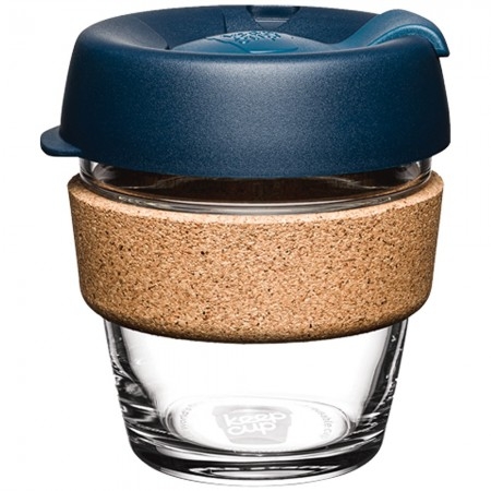 KeepCup XS Glass Cup Cork Band 6oz (177ml) - Spruce