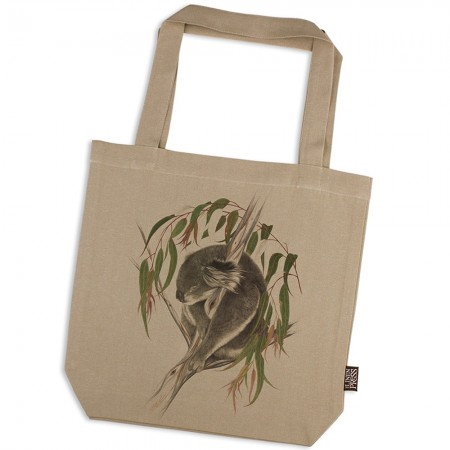 The Linen Press Meg Wells Organic Cotton Shopper Bag - Koala