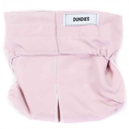 Dundies All in One Pet Nappy - Dusty Pink