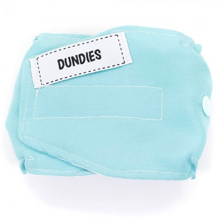 Dundies Male Pet Nappy Belly Band - Soft Blue