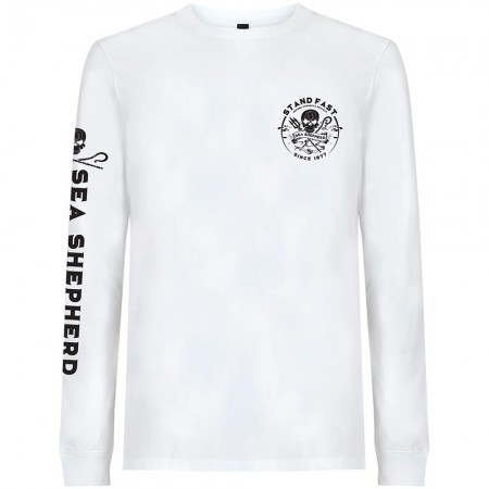 Sea Shepherd Organic Cotton Defenders View Long Sleeve Tee - White