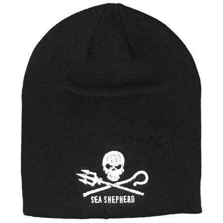 Sea Shepherd Organic Cotton Jolly Roger Unisex Beanie - Black