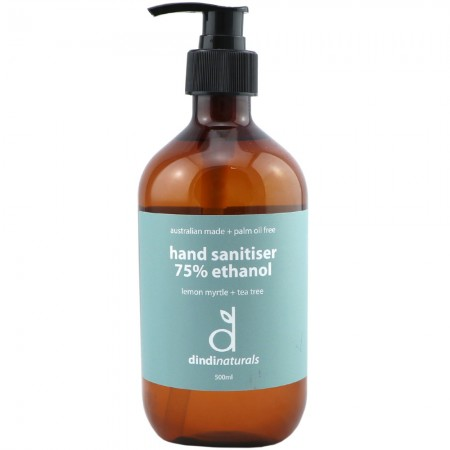 Dindi Naturals Hand Sanitiser 75% Ethanol 500ml - Lemon Myrtle & Tea Tree