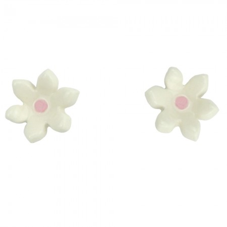 Paper Boat Press Ceramic Daisy Earrings - Pink