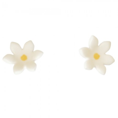 Paper Boat Press Ceramic Daisy Earrings - Yellow