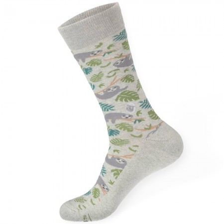 Conscious Step Socks That Protect Sloths - Grey Leaf
