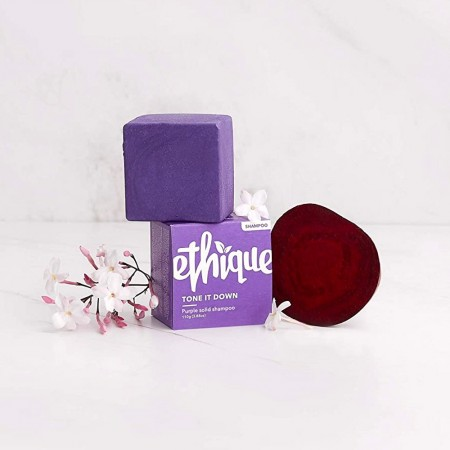 ETHIQUE Solid Shampoo Bar Tone It Down 110g - Purple