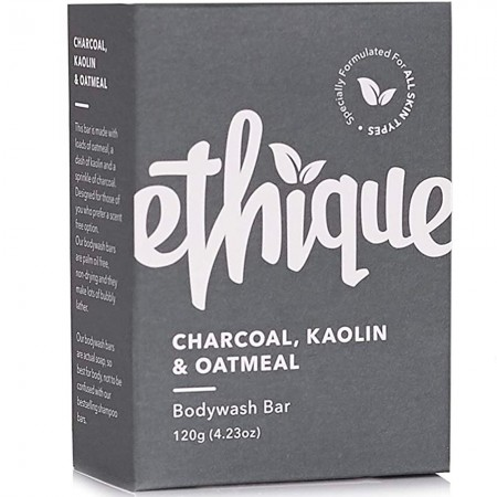ETHIQUE Solid Bodywash Bar Charcoal, Kaolin & Oatmeal - 120g