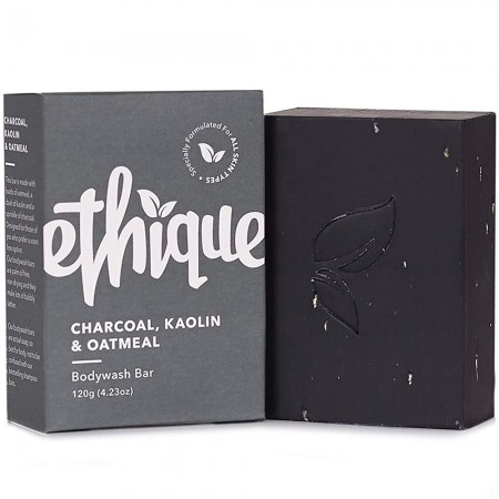 ETHIQUE Solid Bodywash Bar 120g - Charcoal, Kaolin & Oatmeal (Unscented)