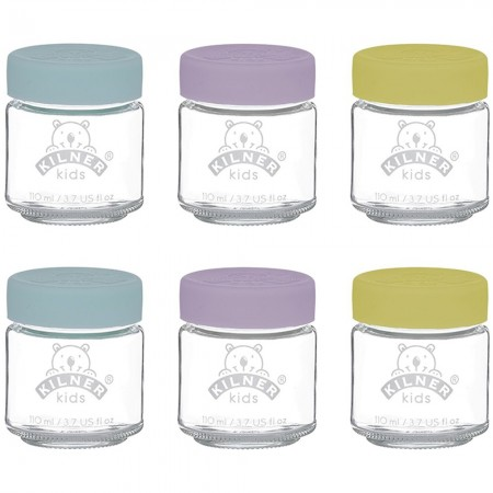 Kilner Kids Glass Jar Set of 6 - 110ml