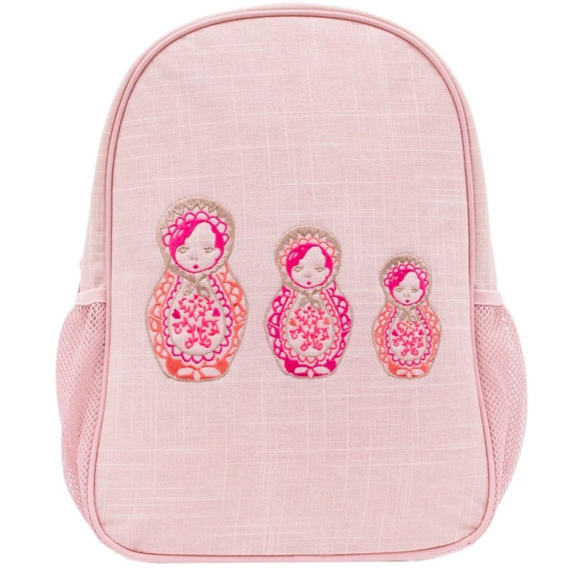 SoYoung Toddler Backpack Embroidered Dolls Uncoated