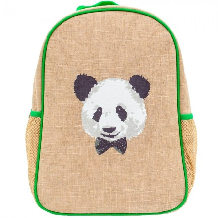 SoYoung Raw Linen Toddler Backpack - Monsieur Panda