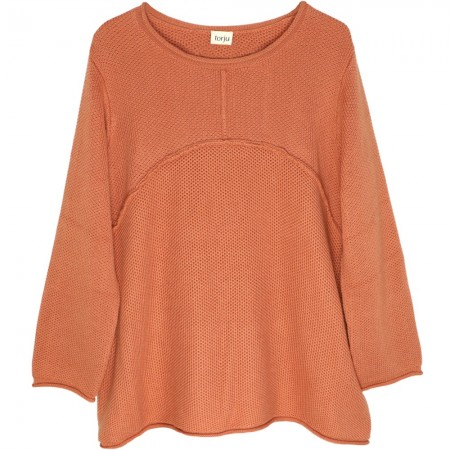 Torju Exposed Seam Knit Jumper - Rust