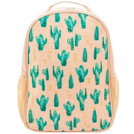 SoYoung Raw Linen Toddler Backpack - Cacti Desert