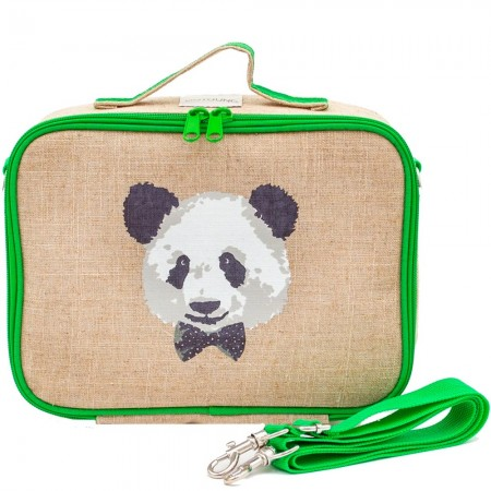 SoYoung Raw Linen Insulated Lunch Box - Monsieur Panda