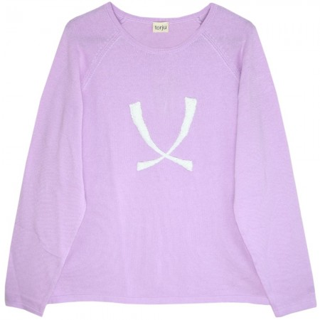 Torju Logo Knit Sweater - Violet