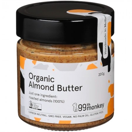 99th Monkey Organic Almond Butter 200g