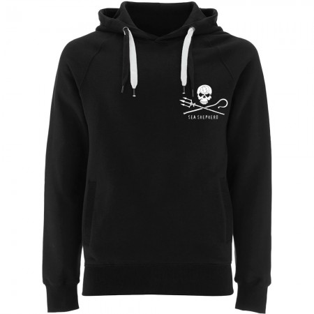 Sea Shepherd Jolly Roger Pullover Hoodie - Black
