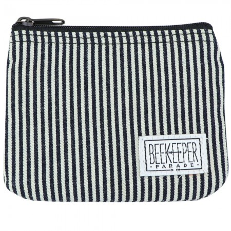 Beekeeper Parade Coin Purse - Black & White Stripe