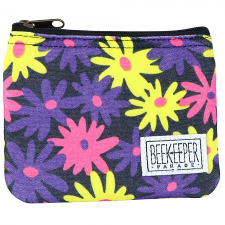 Beekeeper Parade Coin Purse - Pink Purple Yellow Floral