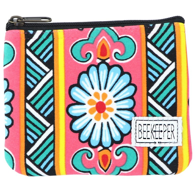 Beekeeper Parade Coin Purse - Hot Pink Floral
