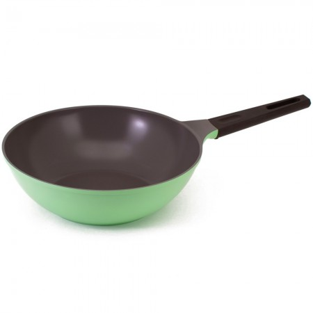 Nature+ Neoflam 30cm non stick wok - apple green
