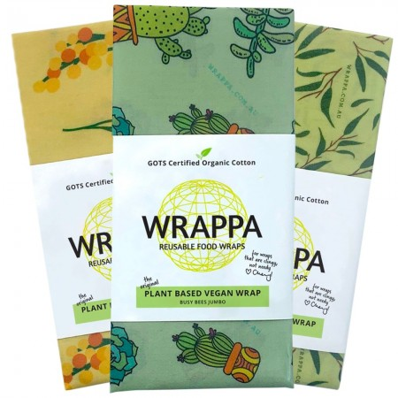 WRAPPA Vegan Organic Cotton and Wax Wrap - Jumbo