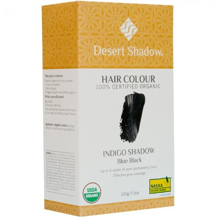 Desert Shadow Organic Hair Colour - Indigo (blue/black) Shadow 100g