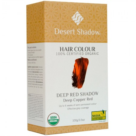 Desert Shadow Organic Hair Colour - Deep Red 100g