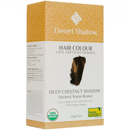 Desert Shadow Organic Hair Colour - Deep Chestnut Shadow 100g