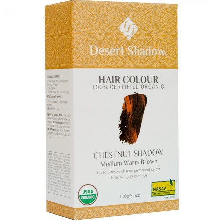 Desert Shadow Organic Hair Colour - Chestnut Shadow 100g