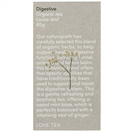 Love Tea Organic Loose Leaf 50g - Digestive