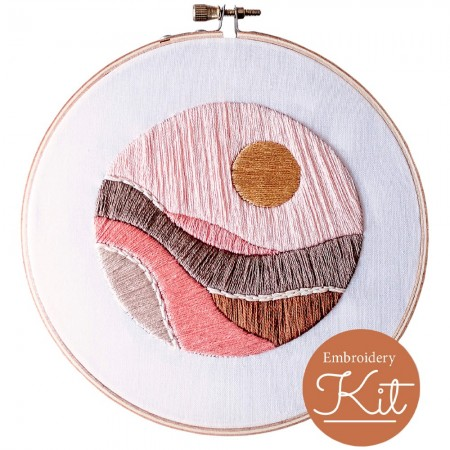 Brynn & Co. Embroidery Kit - Faded Sun