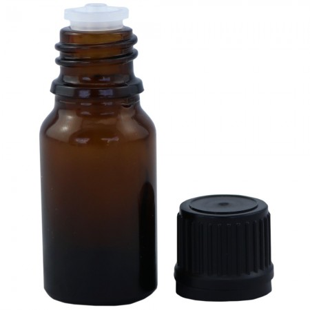 Amber Glass Bottle with Tamper Cap 15ml