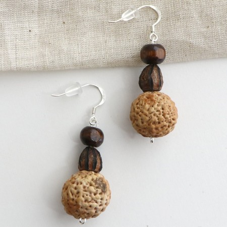 Gillawarra Arts Burnt Gum Earrings