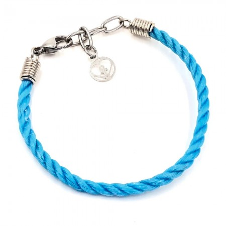 Planet Love Life Ghost Fishing Net Bracelet - Blue