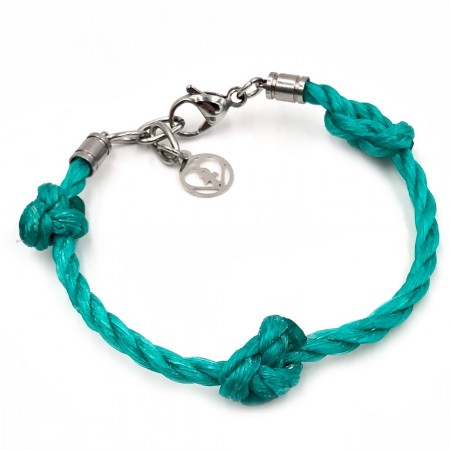 Planet Love Life Ghost Fishing Net Bracelet - Turquoise