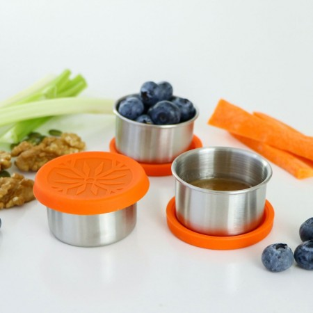 Biome Good to Go Stainless Steel Dipper Orange Lid 50ml Set of 3