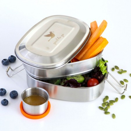 Biome Good to Go Stainless Steel Two Level 1L with bonus dipper