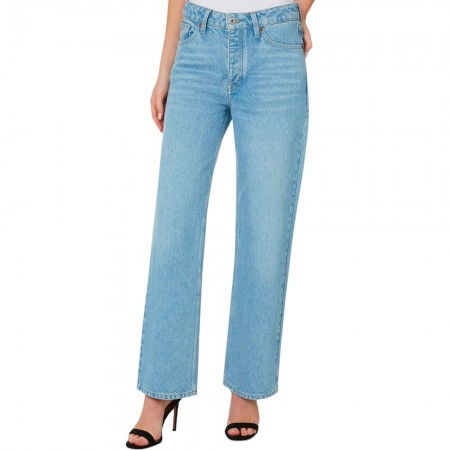 Outland Denim Amy Mid Rise Straight Leg Button Up Jeans - Former