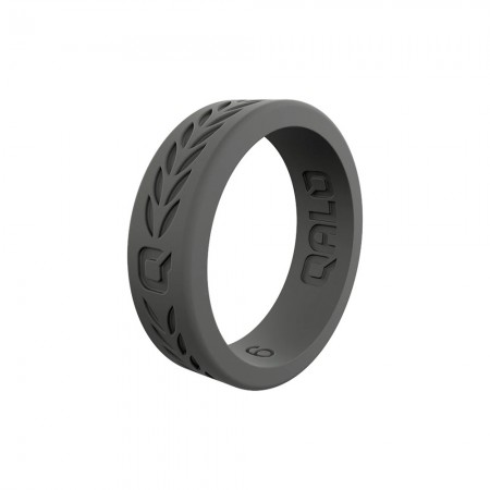QALO Womens Laurel Q2X Silicone Ring - Charcoal Grey