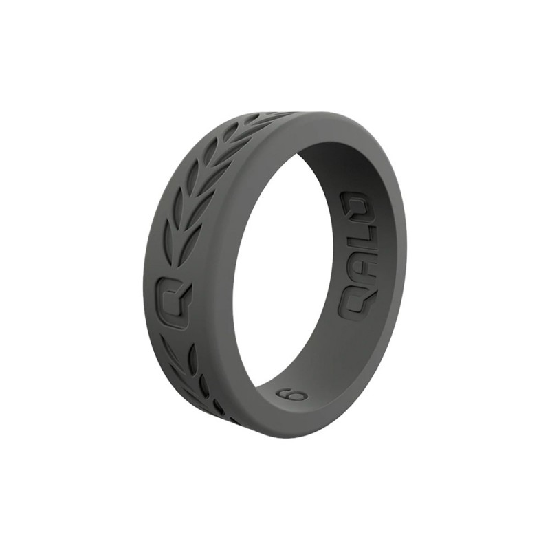 QALO Womens Charcoal Laurel Q2X Ring