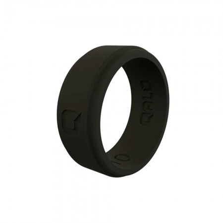 QALO Mens Step Edge Q2X Silicone Ring - Black